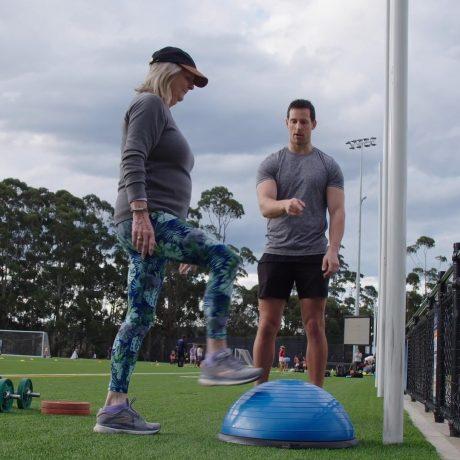 Bosu fitness training